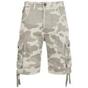 Smith & Jones Men's Fin Camo Cargo Shorts - Stone