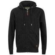 Smith & Jones Men's Kent Zip Through Hoody - Black