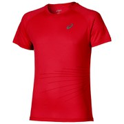 Asics Men's Lite Show Graphic Running T-Shirt - True Red