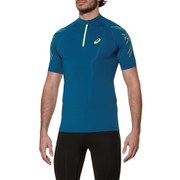 Asics Men's IM 1/2 Zip Running T-Shirt - Mosaic Blue
