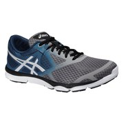 Asics Men's 33 DFA Running Shoes - Taupe/Cloud White/Blue