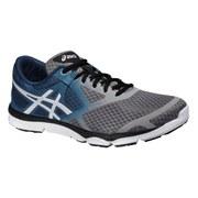 Asics Men's 33 DFA Running Shoes - Taupe/Cloud White/Blue