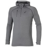 Asics Men's 1/2 Zip Running Hoody - Dark Grey Heather