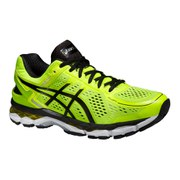Asics Men's Gel Kayano 22 Running Shoes - Flash Yellow/Black/Silver