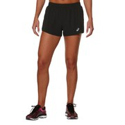 Asics Women's 2 in 1 Woven 3 Inch Running Shorts - Performance Black