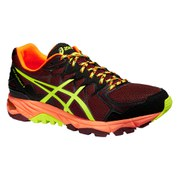 Asics Men's Gel FujiTrabuco 4 Trail Running Shoes - Royal Burgundy/Flash Yellow