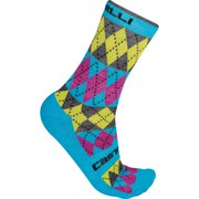 Castelli Diverso Socks - Pink/Blue