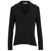 Helmut Lang Women's Henley Crepe Shirt - Black