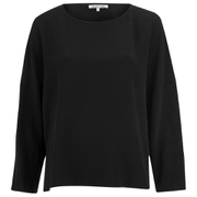 Helmut Lang Women's Raw Details Long Sleeve Top - Black