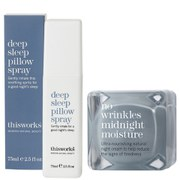 this works Deep Sleep Pillow Spray (75ml) & No Wrinkles Midnight Moisture (48ml)