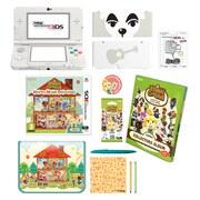 New Nintendo 3DS White + Animal Crossing: Happy Home Designer + Cover Plate 05 Pack