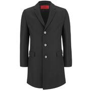 HUGO Men's Migor2 Single Breasted Overcoat - Black