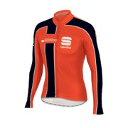 Sportful Gruppetto Thermal Long Sleeve Jersey - Red Fire/Black