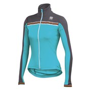 Sportful Women's Allure Long Sleeve Thermal Jersey - Acqua/Anthracite