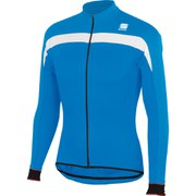 Sportful Pista Thermal Long Sleeve Jersey - Electric Blue/White