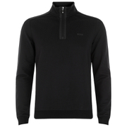BOSS Green Men's Sweatshirt 1 Nylon Combi Hoody - Black