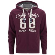 Tokyo Laundry Men's Zip Through Hoody - Oxblood
