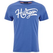 Tommy Hilfiger Men's Large Logo Crew Neck T-Shirt - Turkish Sea