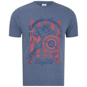 Marvel Men's Captain America T-Shirt - Blue