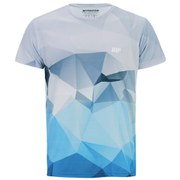 Myprotein Men's Geometric Printed Training Shirt, Светло син