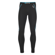 Skins A200 Mens Thermal Long Compression Tights - Black/Neon Blue