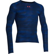 Under Armour Men's HeatGear Long Sleeve Compression Top - Academy Grey