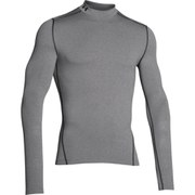 Under Armour Men's ColdGear Compression Long Sleeve Mock Top - Grey heather
