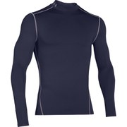 Under Armour Men's ColdGear Compression Long Sleeve Mock Top - Midnight Navy/Steel