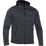 Under Armour Women's Quilted Full Zip Hoody - Stealth Grey