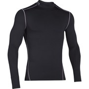 Under Armour Men's ColdGear Compression Long Sleeve Mock Top - Black