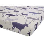 Catherine Lansfield Grampian Stag Brushed Fitted Sheet - Multi