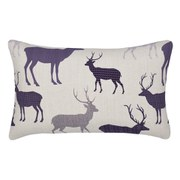 Catherine Lansfield Grampian Stag Brushed Pillowcases - Navy