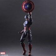 Square Enix Marvel Comics Captain America Variant Play Arts Kai Figure