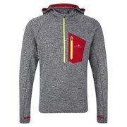 RonHill Men's Advance Victory Hoodie - Grey/Red