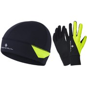 RonHill Beanie and Glove Set - Black/Yellow