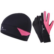 RonHill Beanie and Glove Set - Black/Pink