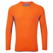 RonHill Men's Vizion Long Sleeve Crew Top - Orange/Granite