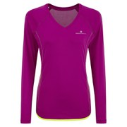 RonHill Women's Aspiration Long Sleeve Tee - Magenta/Yellow