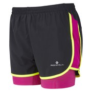 RonHill Women's Aspiration Twin Short - Black/Magenta