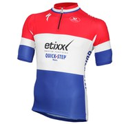 Vermarc Etixx-Quick Step Dutch National Champion Short Sleeve Full Zip Jersey - White