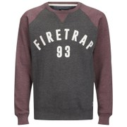 Firetrap Men's Rumsey Crew Neck Raglan Sweatshirt - Dark Shadow