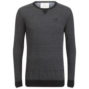 Crosshatch Men's Backsands Crew Neck Kniited Jumper - Grey Marl