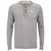 Tokyo Laundry Men's Channing Button Long Sleeve Top - Mid Grey Marl