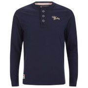 Tokyo Laundry Men's Channing Button Long Sleeve Top - Dark Navy