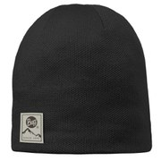 Buff Knitted and Polar Hat - Black