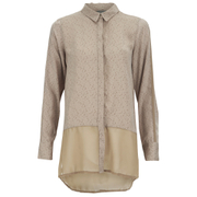Vero Moda Women's Lotus Long Sleeve Long Shirt - Silver Mink