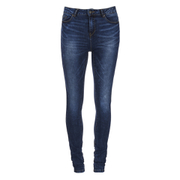 Vero Moda Women's Seven Slim Eye Jeans - Dark Blue Denim