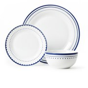 Avie Saturn Dinner Set - Blue (12 Piece)
