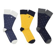 French Connection Men's Peter Pixel 3 Pack Socks - Multi