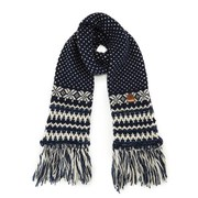 Superdry Women's Courcheval Snowflake Scarf - Navy
